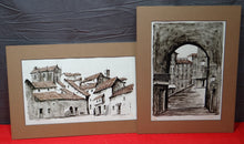 "PAIR OF JUAN MARTIN HIDALGO ""ARCO DE CUCHILLEROS"" & ""CHINCHON"" PAINTINGS"