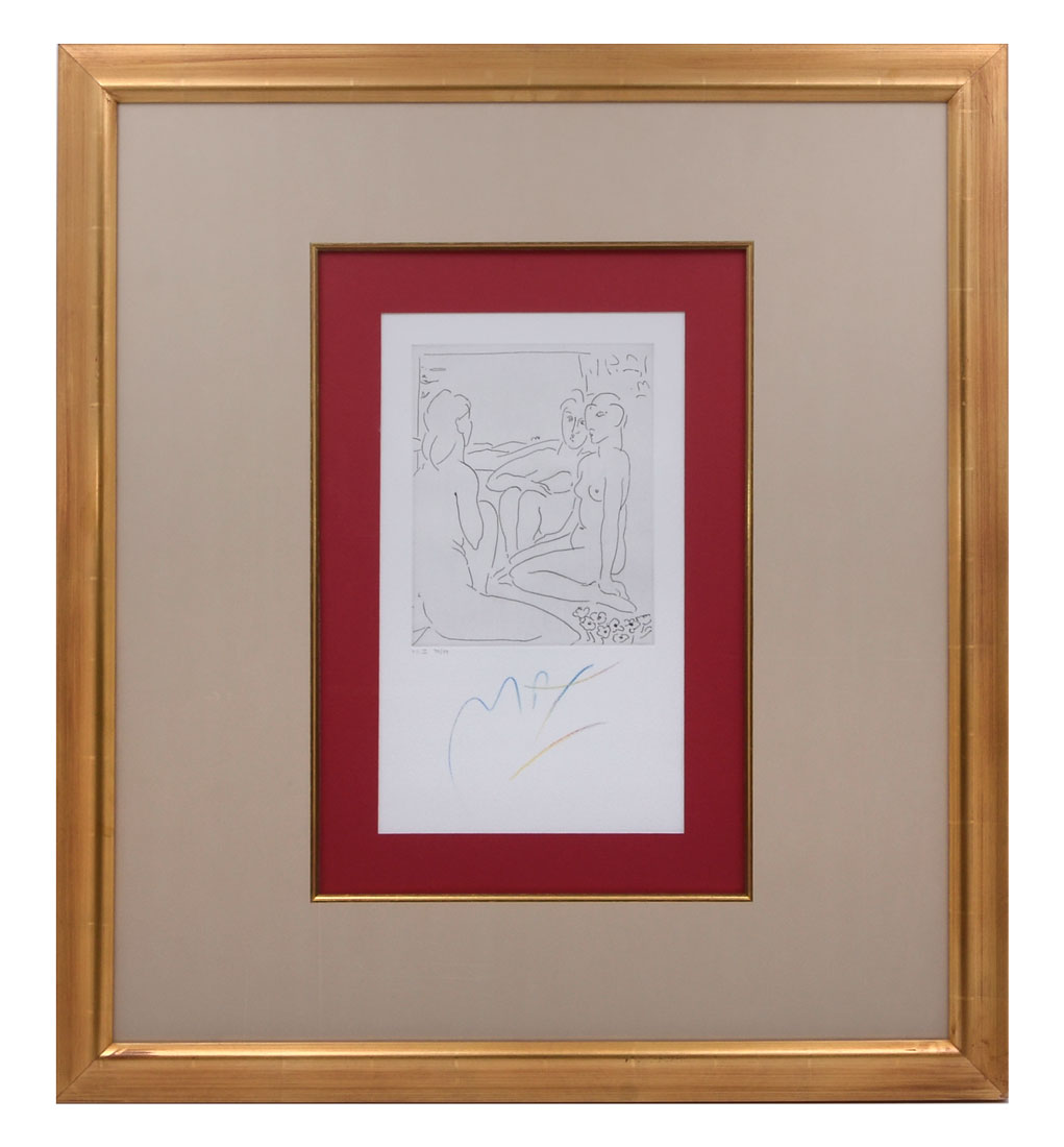 PETER MAX SIGNED HOMAGE TO PICASSO VOLUME 1 ETCHING II, MUSEUM EXHIBITED, 76/99