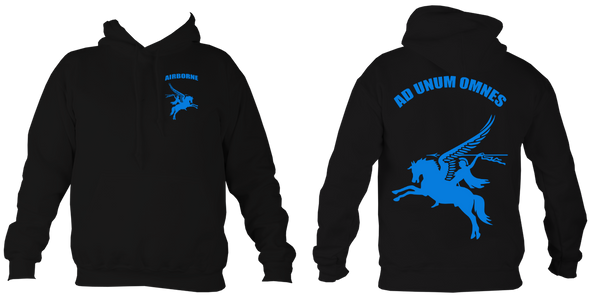 Airborne Forces Motto Pegasus Hoodie - HappyJaySupplies