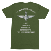 Airborne Sky God Para T Shirt (Dad) - HappyJaySupplies