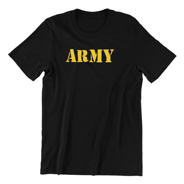 Army Gold Design T-Shirt - HappyJaySupplies