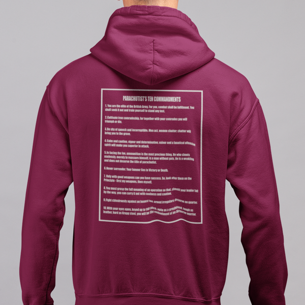 Paratroopers Commandments Hoodie - HappyJaySupplies