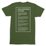 Paratroopers Wanted T-Shirt - HappyJaySupplies