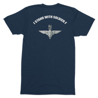 I Stand with Soldier F Para T-Shirt - HappyJaySupplies