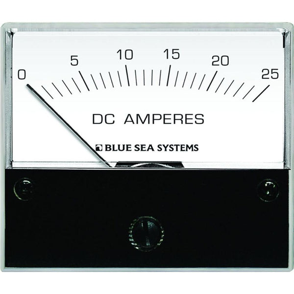 "Blue Sea 8005 DC Analog Ammeter - 2-3-4"" Face, 0-25 Amperes DC"