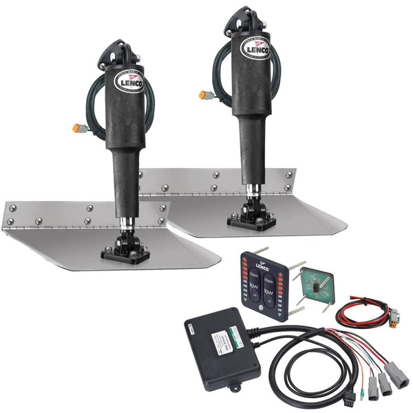 "Lenco 9"" x 18"" Standard Trim Tab Kit w-LED Indicator Switch Kit 12V"