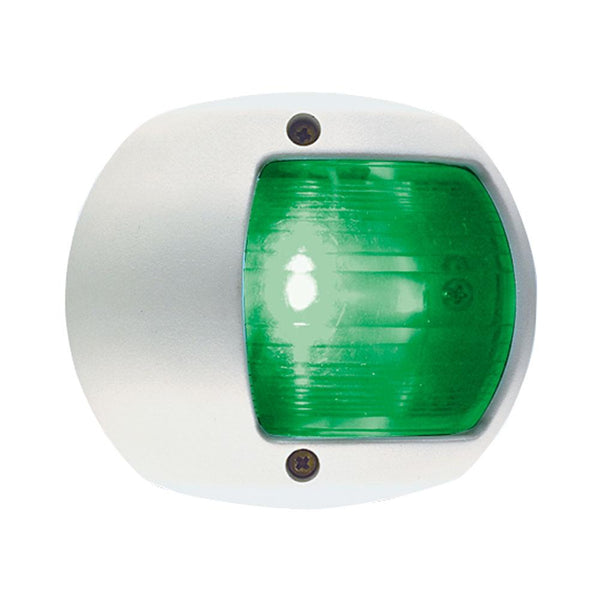 Perko LED Side Light - Green - 12V - White Plastic Housing