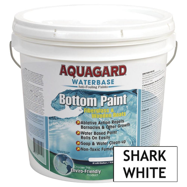 Aquagard Waterbased Anti-Fouling Bottom Paint - 2Gal - Shark White