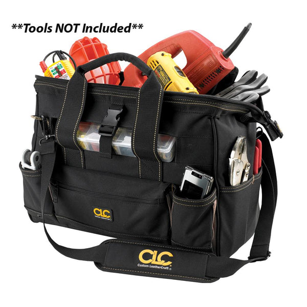 "CLC 1534 16"" Tool Bag w- Top-Side Plastic Parts Tray"