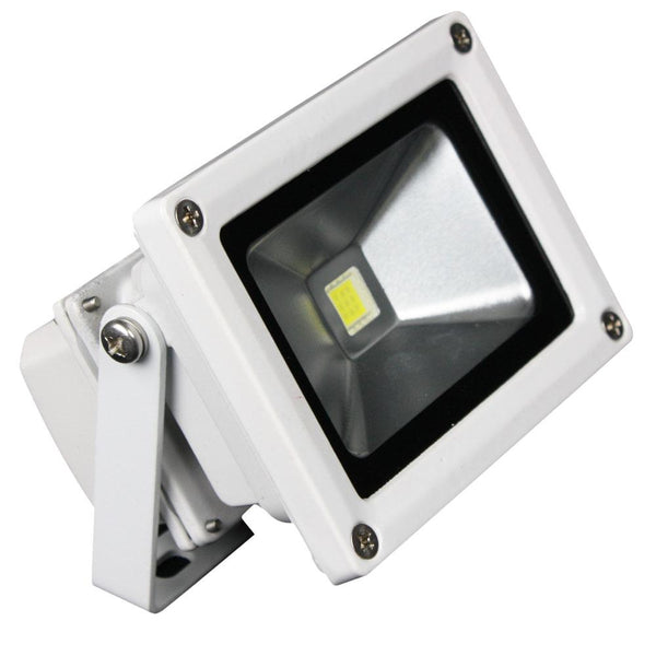 Lunasea Outdoor LED Flood Light - 12V-10W-900 Lumens - Cool White