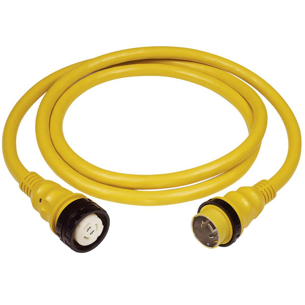Marinco 50A 125V Shore Power Cable - 25' - Yellow