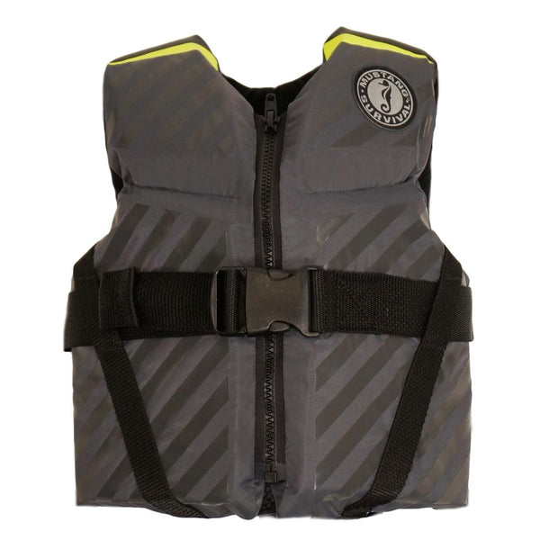 Mustang Lil' Legends 70 Youth Vest - 50-90lbs - Fluorescent Yellow-Green-Gray