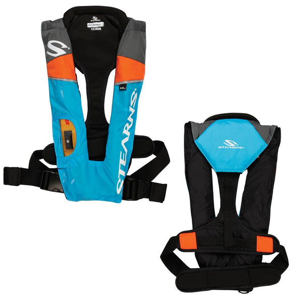 Stearns 1493 A-M - 33g Auto-Manual Inflatable PFD - Blue-Orange-Grey