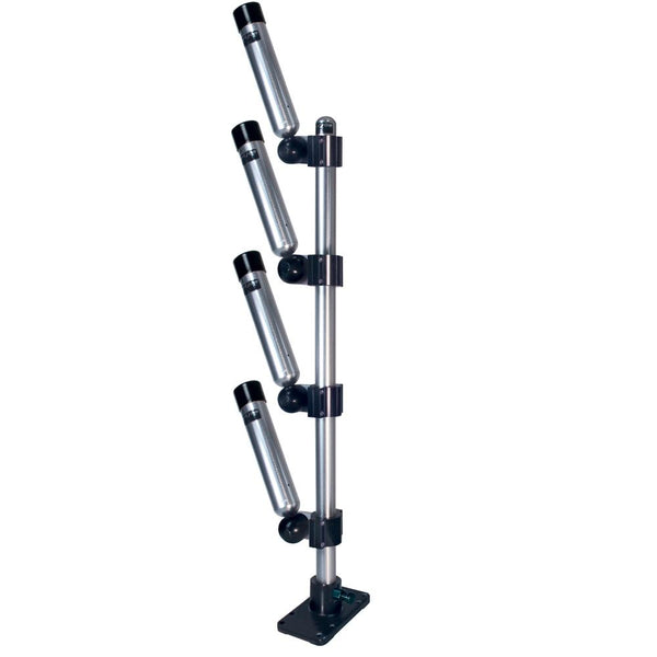 Big Jon Multi-Set Quad Rod Holder Tree - Silver