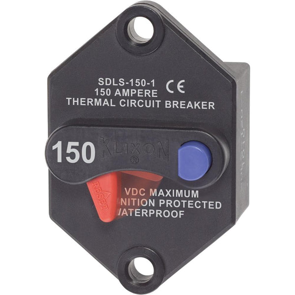 Blue Sea 7079 Klixon Circuit Breaker - Panel Mount 150A