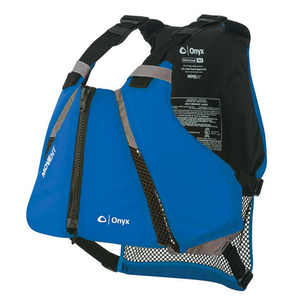 Onyx MoveVent Curve Paddle Sports Life Vest - XL-2X - Blue