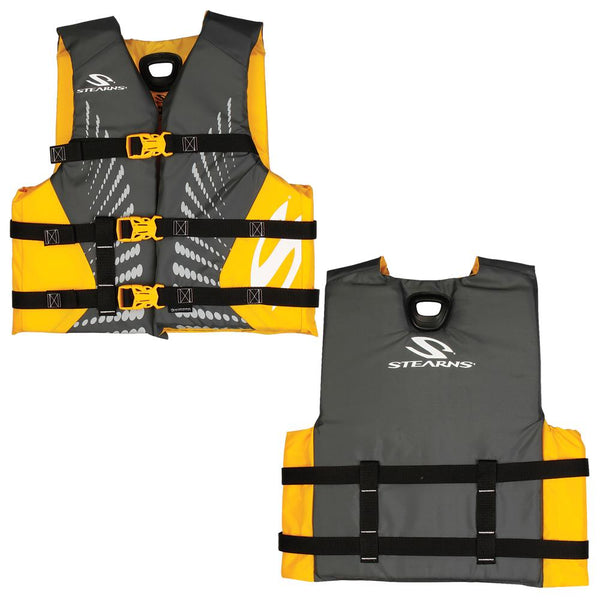 Stearns Youth Antimicrobial Nylon Life Jacket f-50-90lbs - Gold