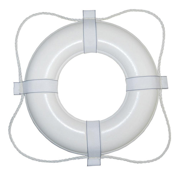 "Taylor Made Foam Ring Buoy - 20"" - White w-White Rope"
