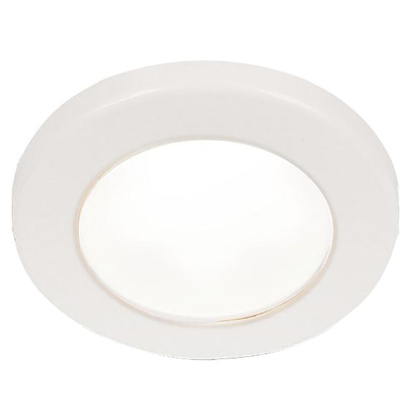 "Hella Marine EuroLED 75 3"" Round Screw Mount Down Light - White LED - White Plastic Rim - 12V"