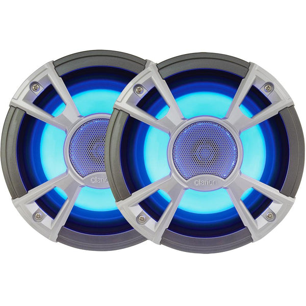 "Clarion CMQ1622RL 6.5"" 2-Way 200W Speakers w-LED - Light Blue"