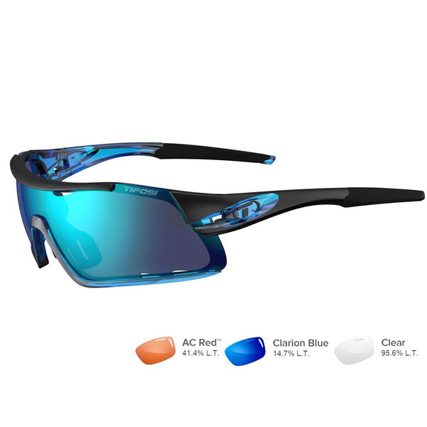 Tifosi Davos Crystal Blue Sunglasses - Clarion Blue-AC Red™-Clear