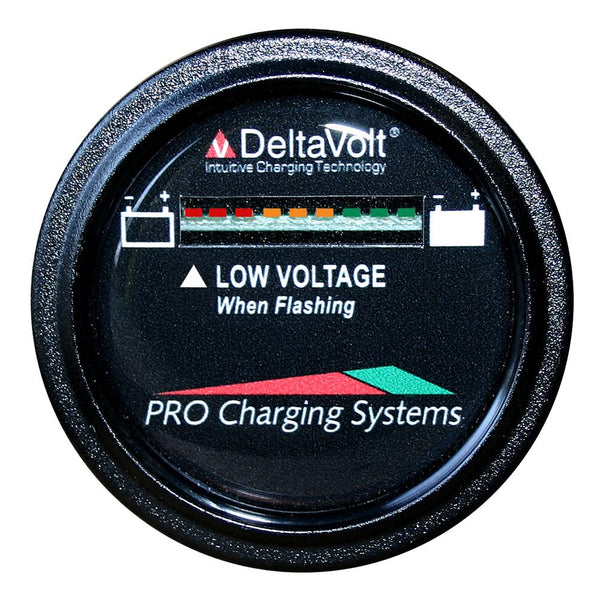 Dual Pro Battery Fuel Gauge - DeltaView® Link Compatible - 48V System (4-12V Batteries, 8-6V Batteries, 6-8V Batteries)