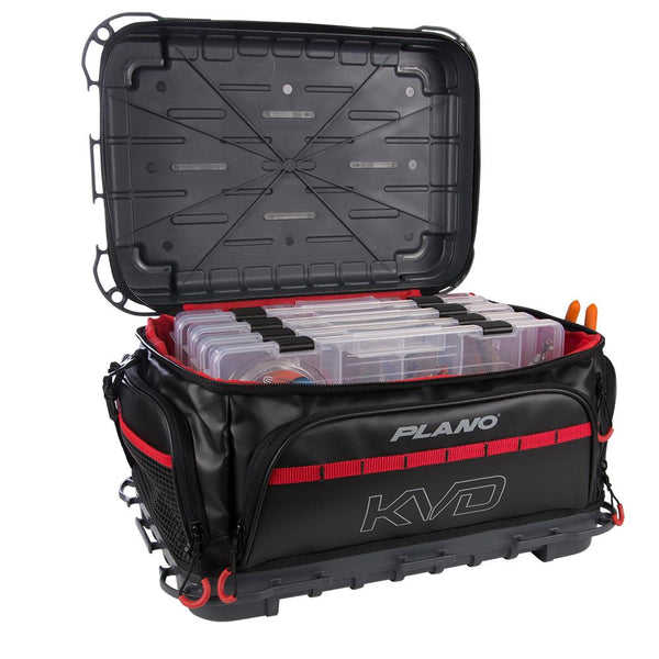 Plano KVD Signature Tackle Bag 3700 - Black-Grey-Red