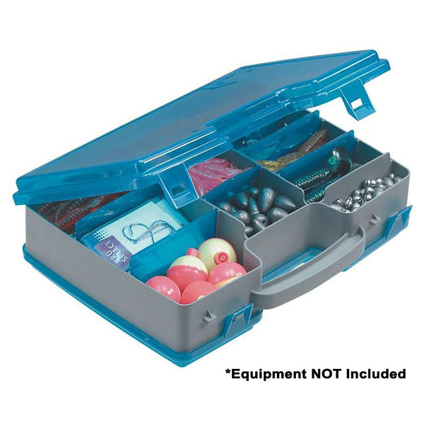 Plano Double-Sided Adjustable Tackle Organizer Large - Silver-Blue