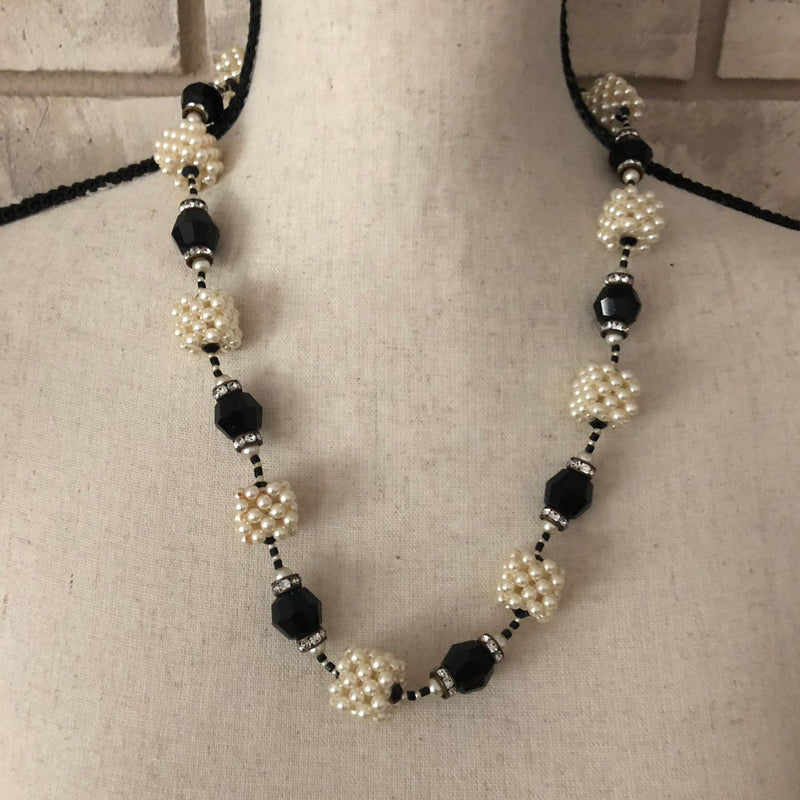 Vintage Vendome Art Deco Style Pearl Bead Necklace-Sustainable Fashion with Vintage Style-Trending Designer Fashion-24 Wishes