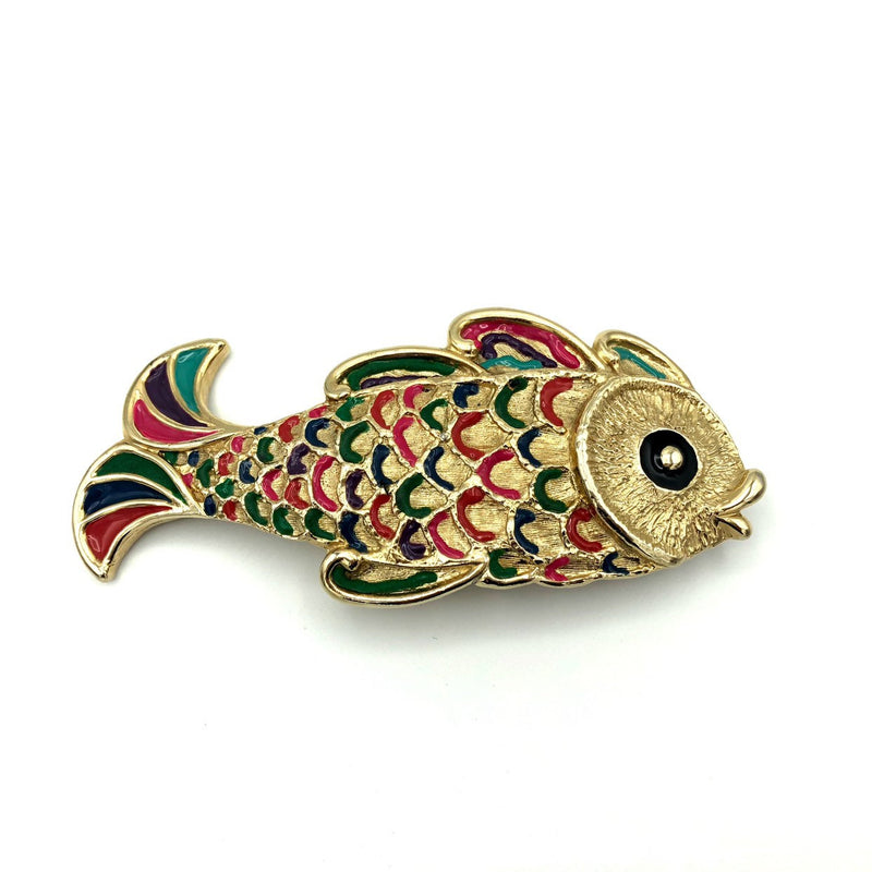 MIMI Di N Vintage Koi Fish Belt Buckle-Sustainable Fashion with Vintage Style-Trending Designer Fashion-24 Wishes
