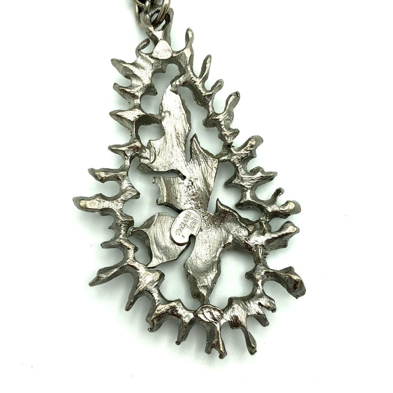 Vintage Silver Hobe Modernist Abstract Pendant