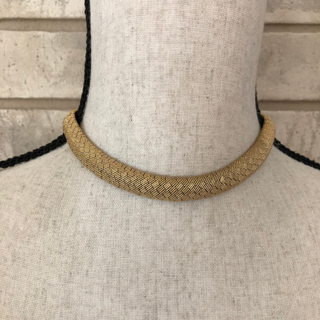 Ciner Gold Snake Chain Necklace-Sustainable Fashion with Vintage Style-Trending Designer Fashion-24 Wishes