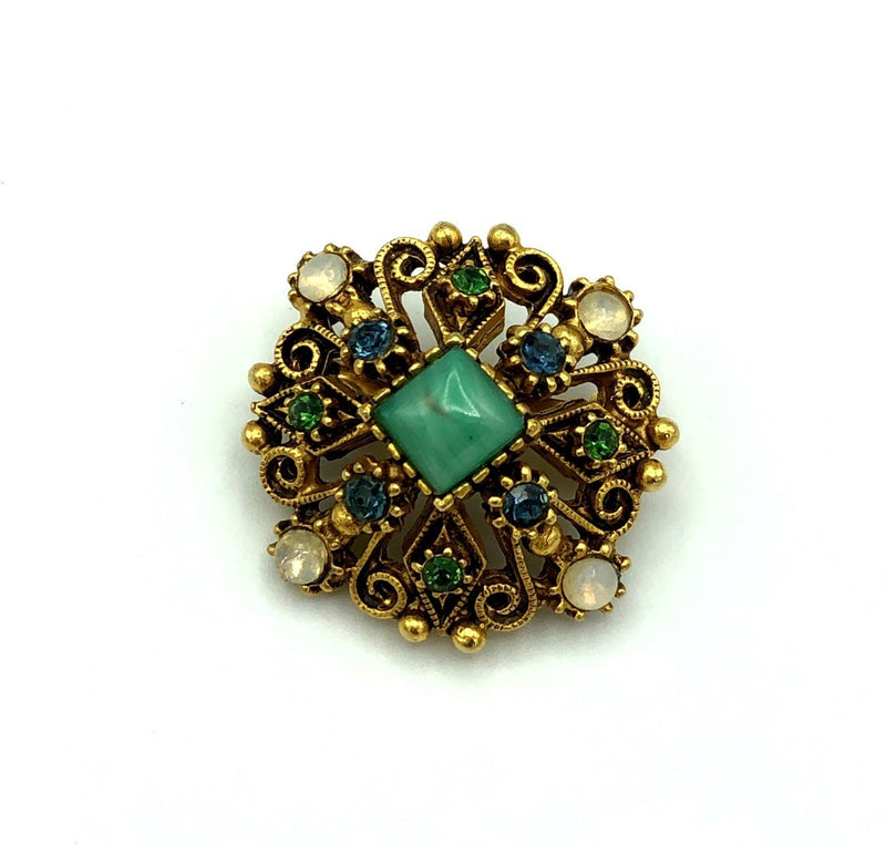 Petite Florenza Victorian Revival Vintage Brooch-Sustainable Fashion with Vintage Style-Trending Designer Fashion-24 Wishes