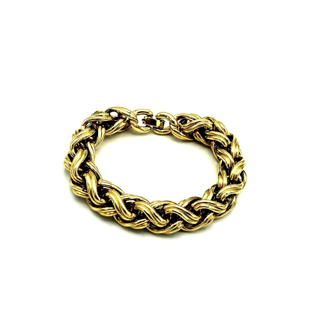 Vintage Monet Classic Gold Chain Stacking Bracelet