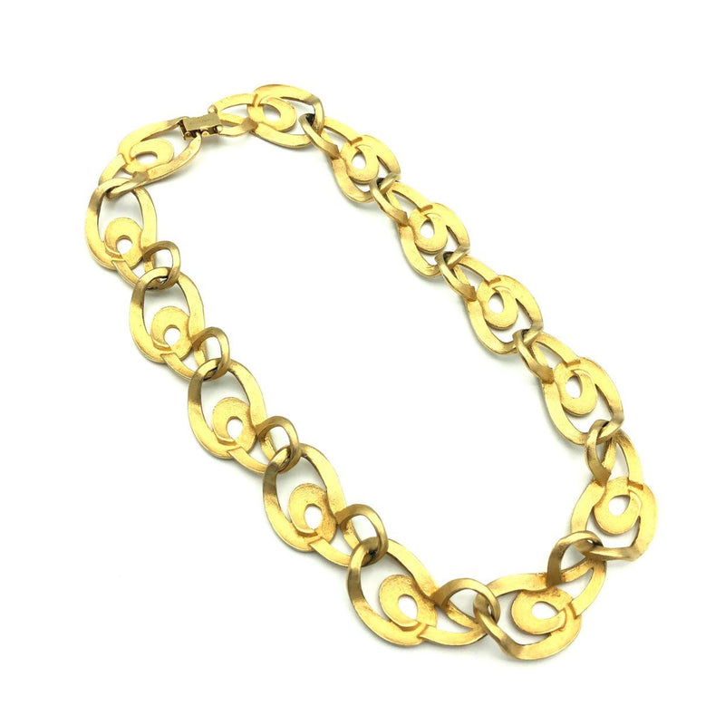 Vintage Edwin Pearl Classic Gold Link Necklace