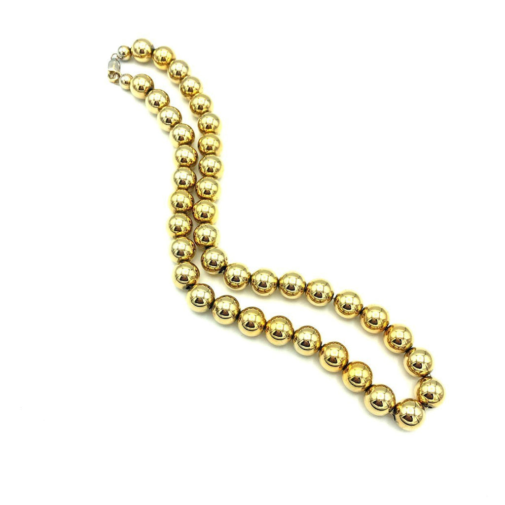 Dobbs Sterling Gold Plated Layering Bead Classic Necklace-Sustainable Fashion with Vintage Style-Trending Designer Fashion-24 Wishes