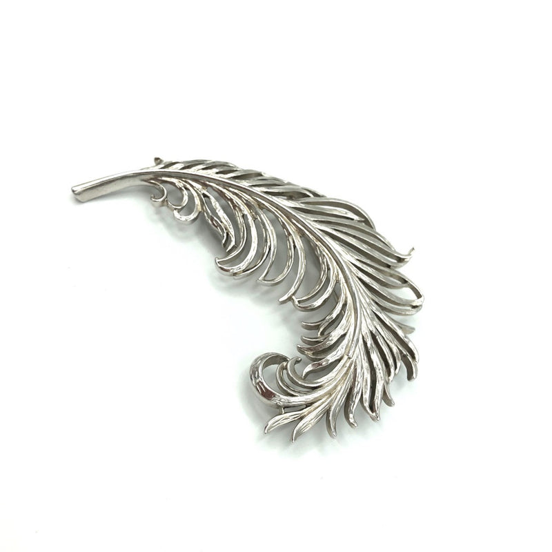 update alt-text with template Vintage Trifari Large Feather Pin Brooch-Brooches & Pins-Trifari-[trending designer jewelry]-[trifari jewelry]-[Sustainable Fashion]