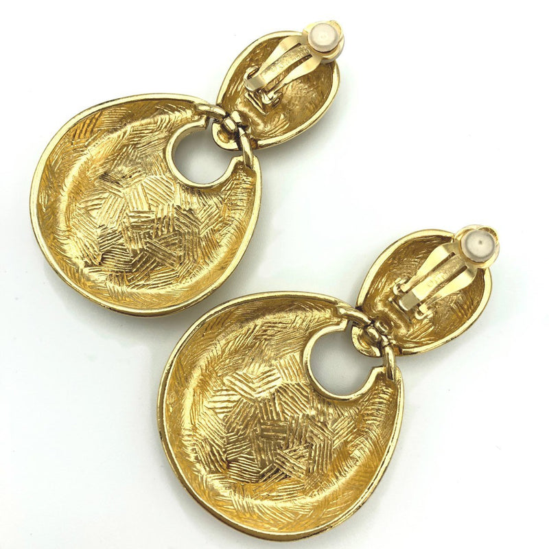 Vintage Givenchy Gold Door Knocker Earrings-Earrings-Givenchy-[trending designer jewelry]-[givenchy jewelry]-[Sustainable Fashion]