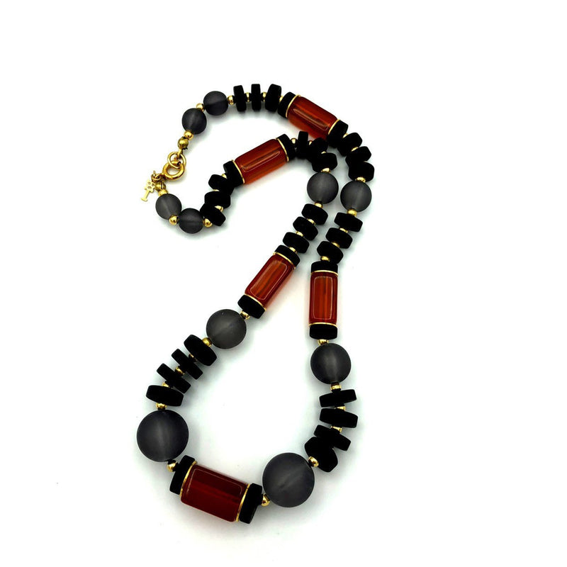 update alt-text with template Crown Trifari Boho Beaded Necklace-Necklaces & Pendants-Trifari-[trending designer jewelry]-[trifari jewelry]-[Sustainable Fashion]