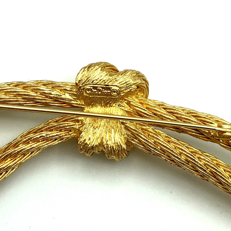 update alt-text with template Christian Dior Gold Rope Vintage Brooch-Brooches & Pins-Christian Dior-[trending designer jewelry]-[christian dior jewelry]-[Sustainable Fashion]