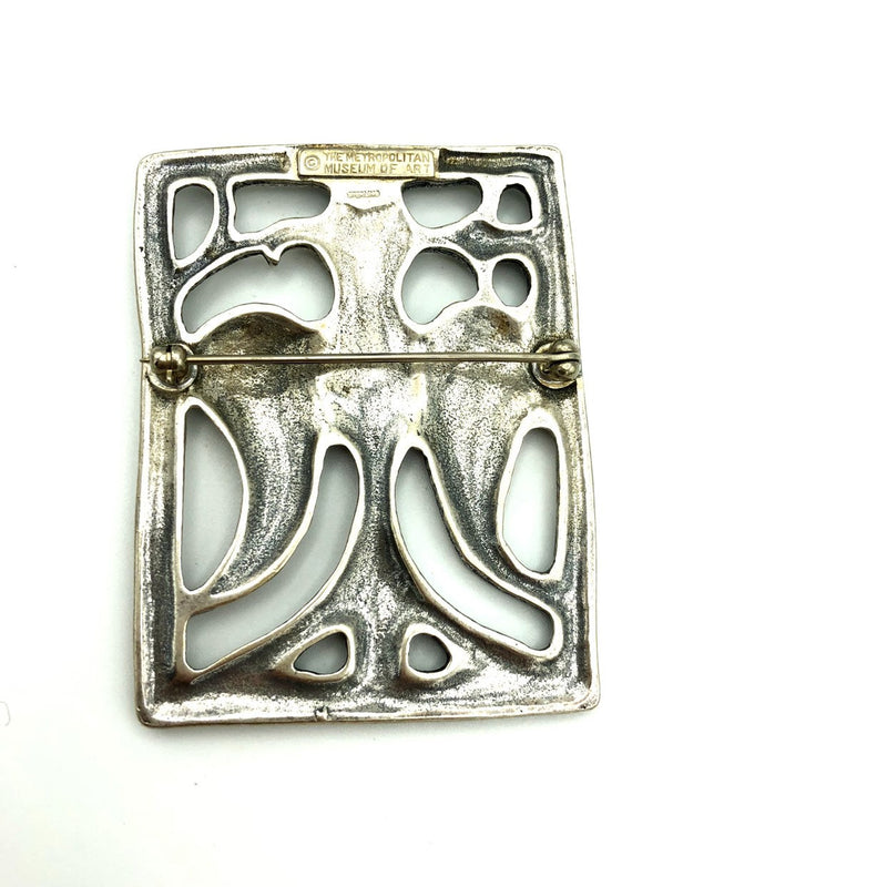 Vintage MMA Large Sterling Silver Egyptian Revival Brooch-Brooches & Pins-24 Wishes