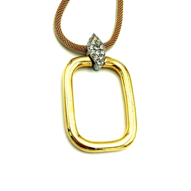 Vintage DVF Diane Von Fürstenberg Gold Pendant-Sustainable Fashion with Vintage Style-Trending Designer Fashion-24 Wishes