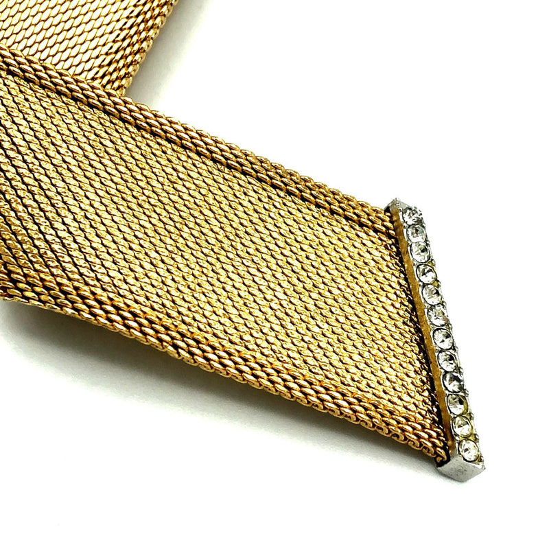 update alt-text with template Gold Christian Dior Mesh Ribbon Classic Vintage Brooch-Brooches & Pins-Christian Dior-[trending designer jewelry]-[christian dior jewelry]-[Sustainable Fashion]