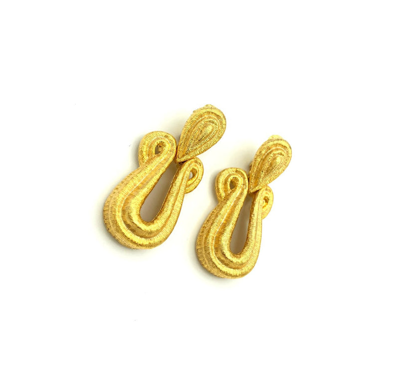 Vintage Gold Givenchy Door Knocker Earrings-Earrings-Givenchy-[trending designer jewelry]-[givenchy jewelry]-[Sustainable Fashion]