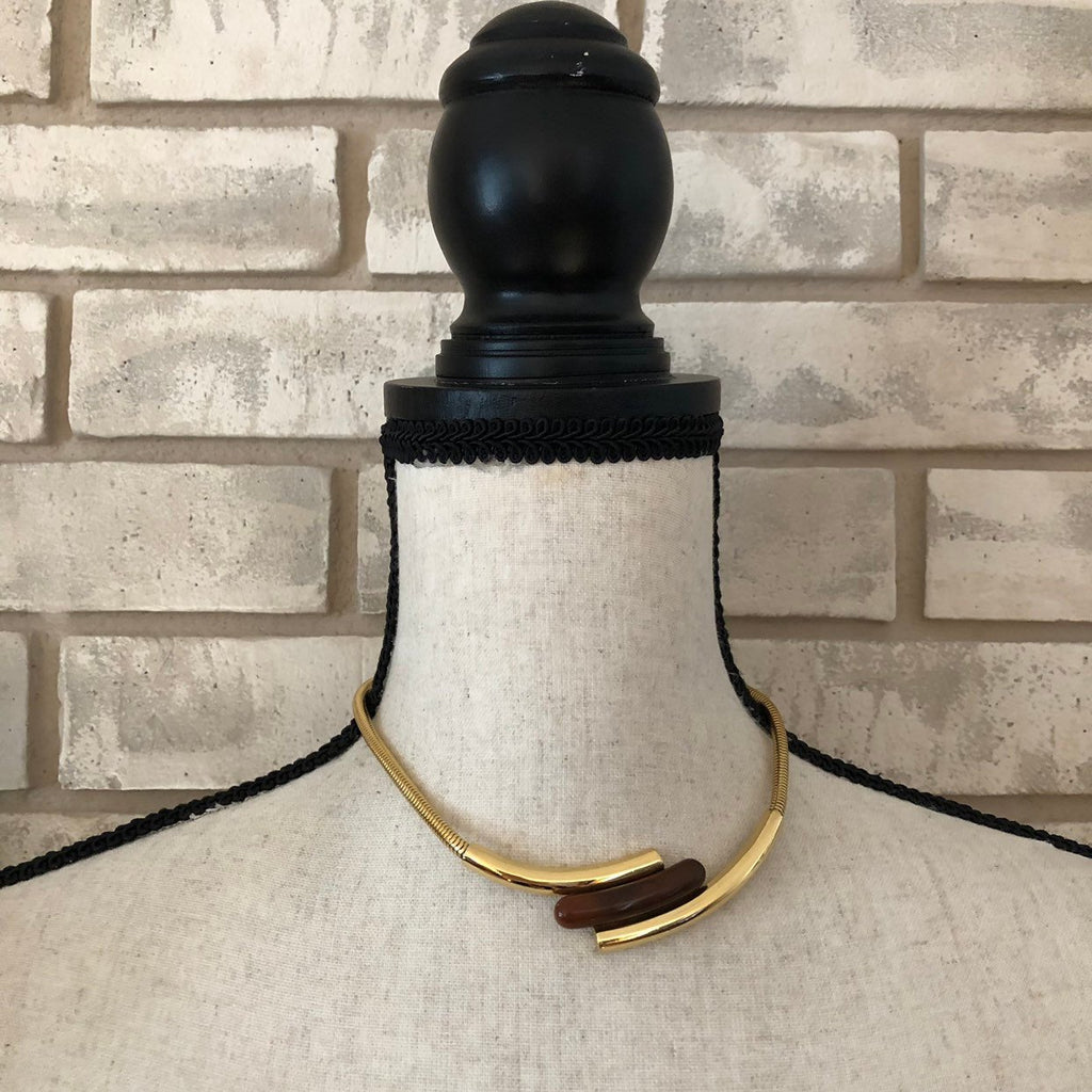 Givenchy Gold Snake Chain Vintage Necklace-Necklaces & Pendants-Givenchy-[trending designer jewelry]-[givenchy jewelry]-[Sustainable Fashion]
