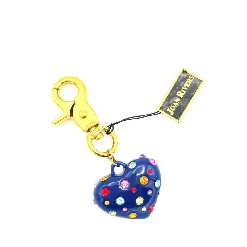 update alt-text with template Vintage Joan Rivers Blue Puffy Heart Purse Charm-Accessories-Joan Rivers-[trending designer jewelry]-[joan rivers jewelry]-[Sustainable Fashion]