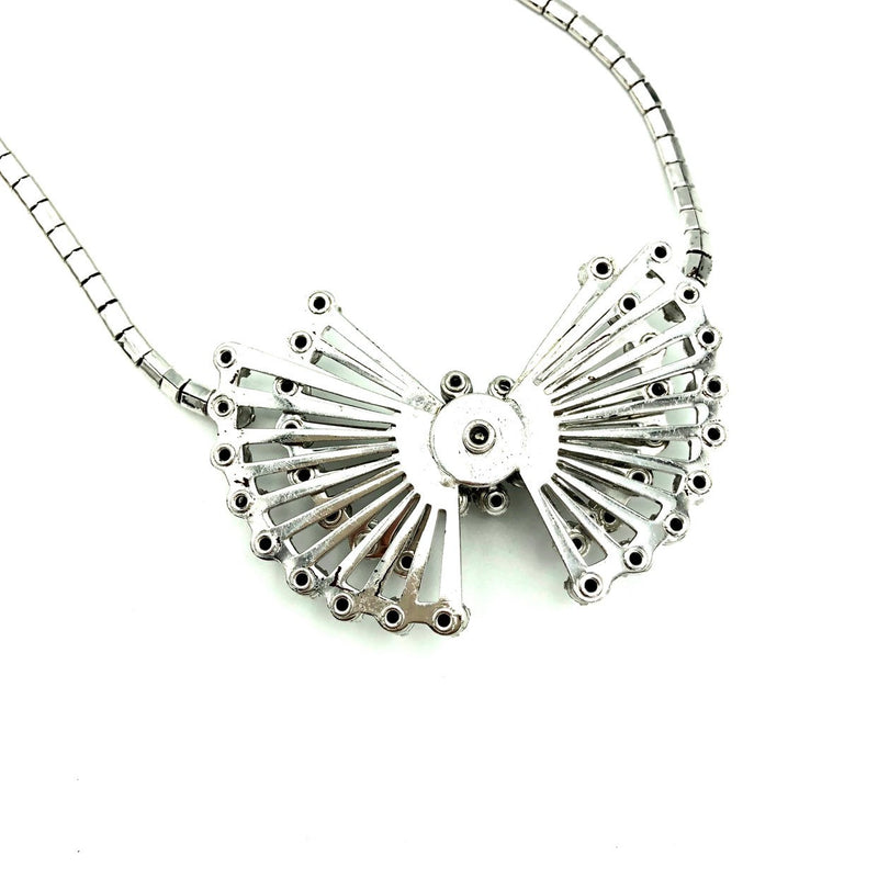 Vintage Silver Art Deco Style Diamante Starburst Pendant-Sustainable Fashion with Vintage Style-Trending Designer Fashion-24 Wishes