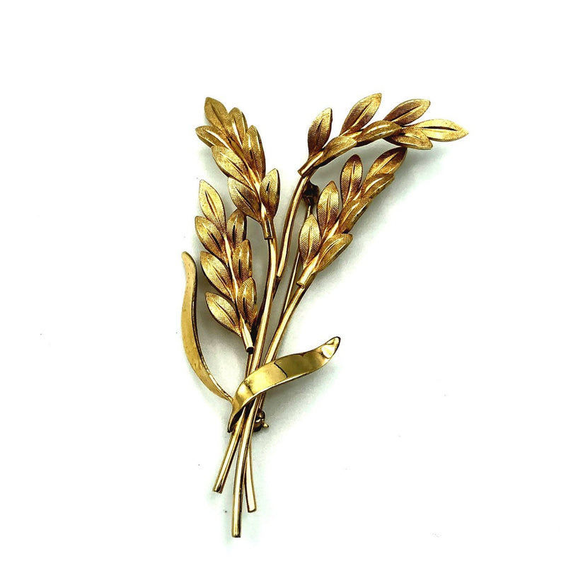 Vintage Van Dell Wheat Gold Filled Brooch