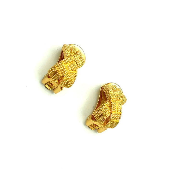 Christian Dior Classic Gold Earrings