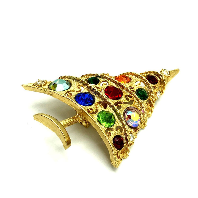 Vintage Weiss Colorful Christmas Tree Brooch-Sustainable Fashion with Vintage Style-Trending Designer Fashion-24 Wishes